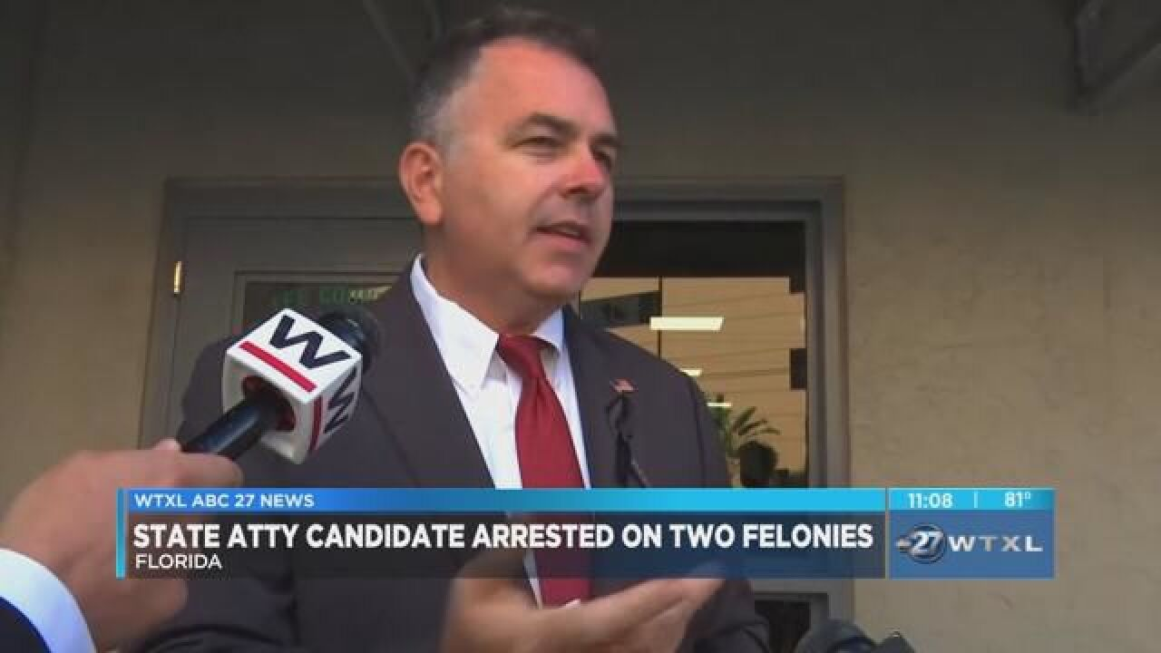 State attorney candidate arrested on two felonies