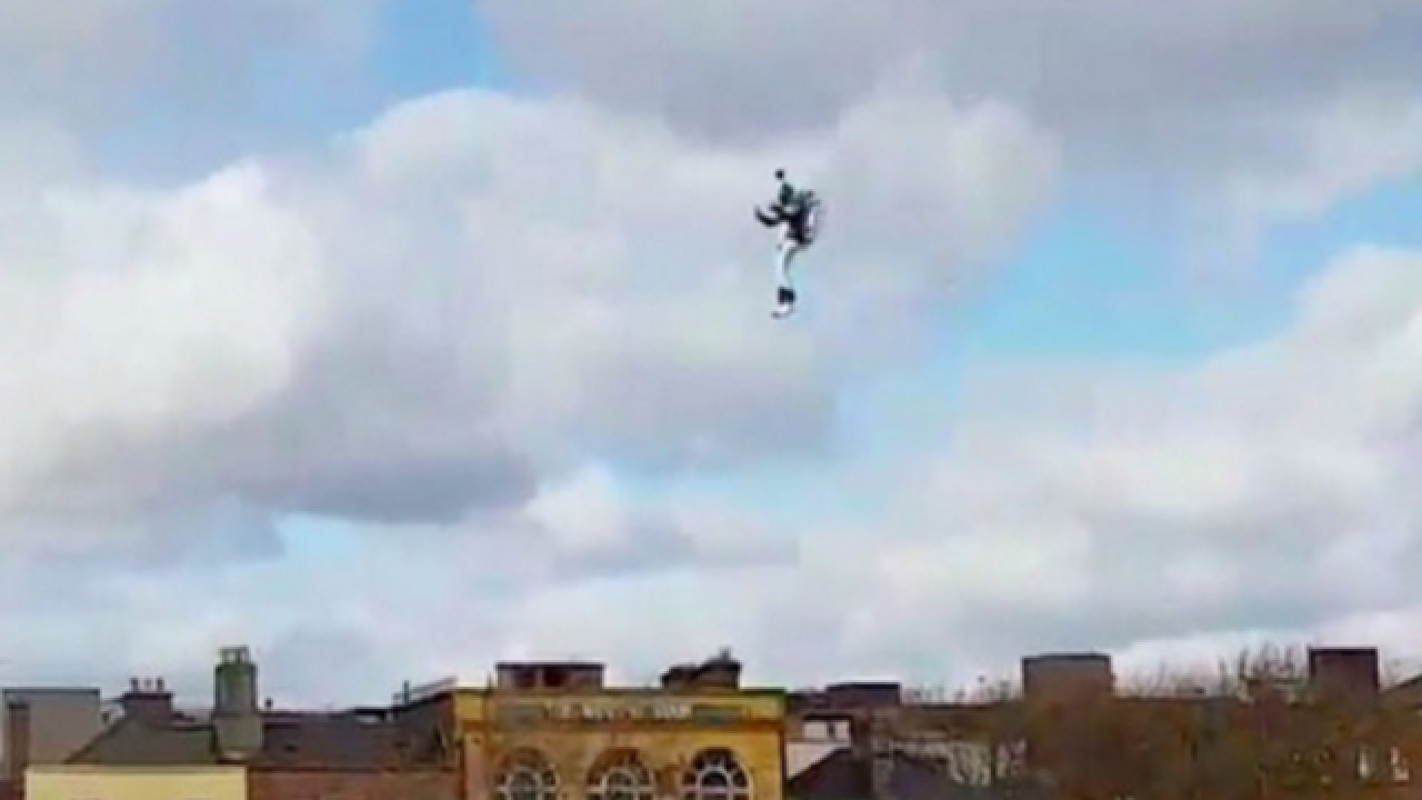 WATCH: Man wearing jetpack flies over Dublin