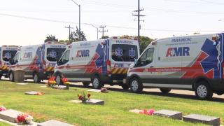 Local EMTs at the Santa Maria Cemetery