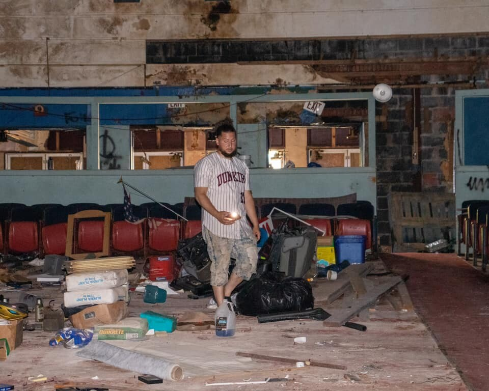 Small town big minds is turning this old theater into a rec center