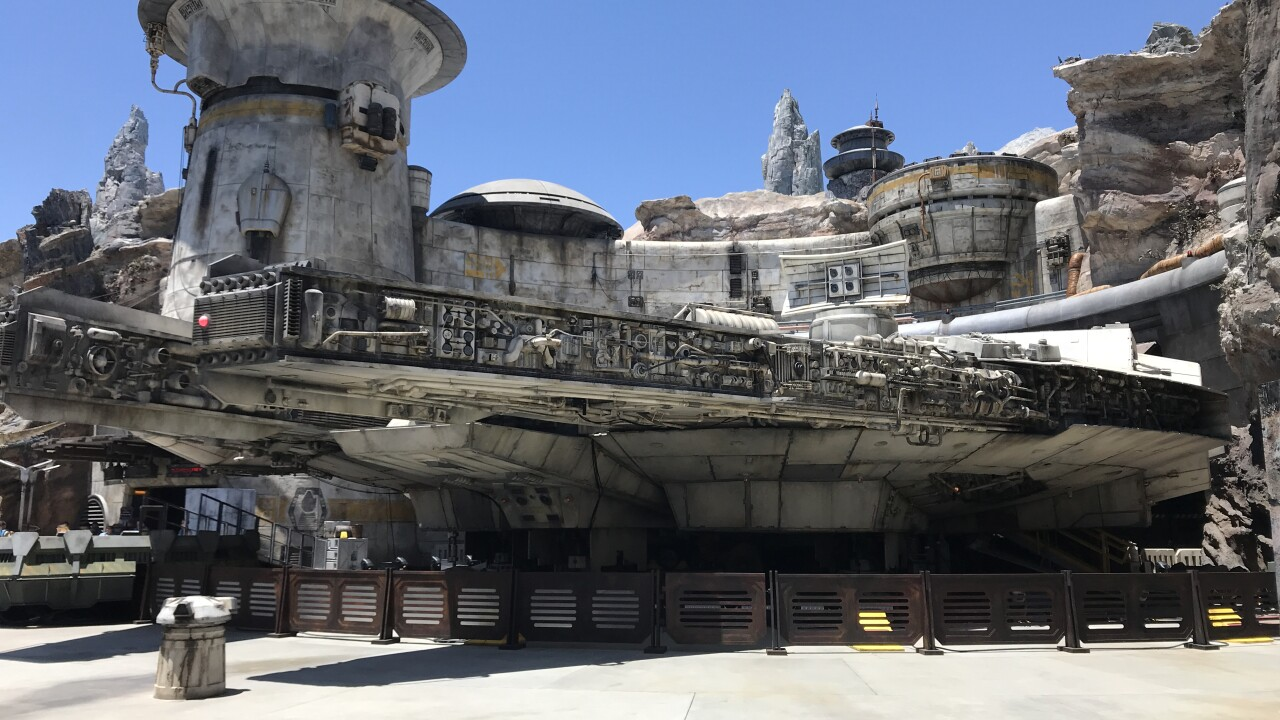 A sneak peak of Disneyland's 'Star Wars: Galaxy's Edge' park