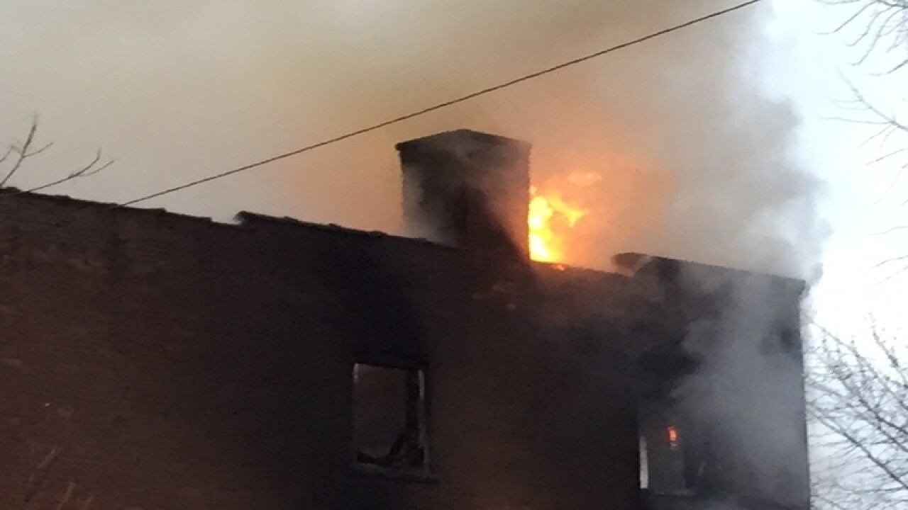 Fire takes over building at E. 68th & Quimby