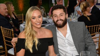 Baker mayfield and wife
