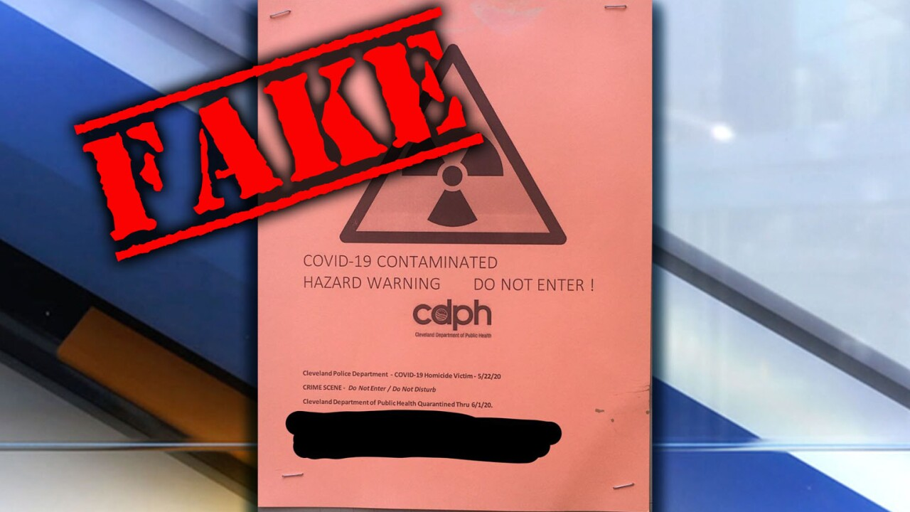 Fake COVID-19 warning