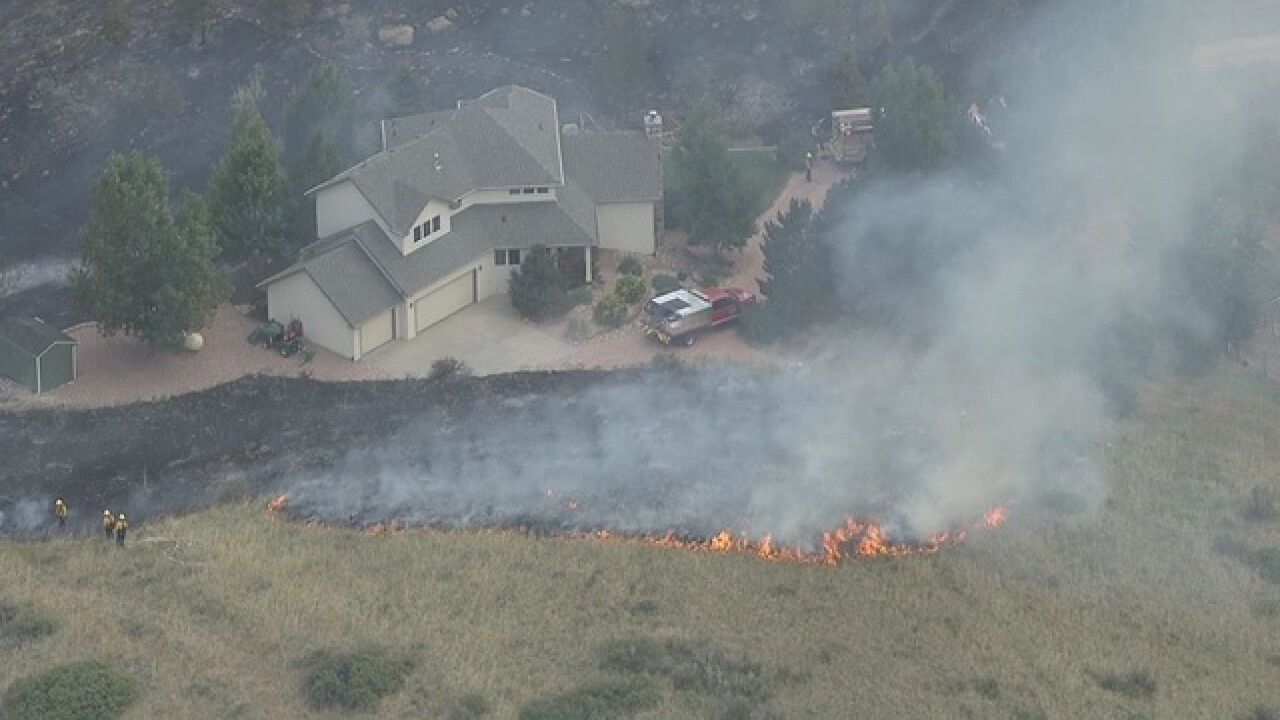 Grass fire forcing evacuations near Carter Lake