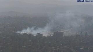 Fire breaks out in Fallbrook