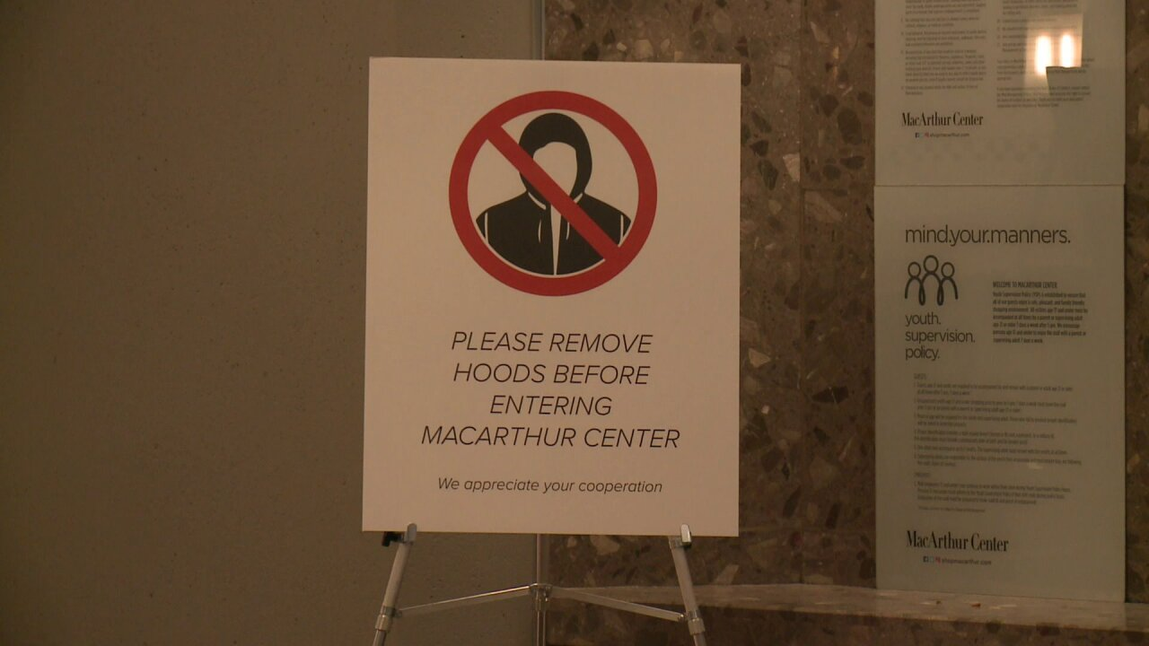 'Please remove hoods' a new policy at Norfolk's MacArthurCenter