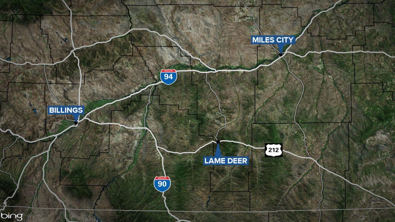 lame deer montana map