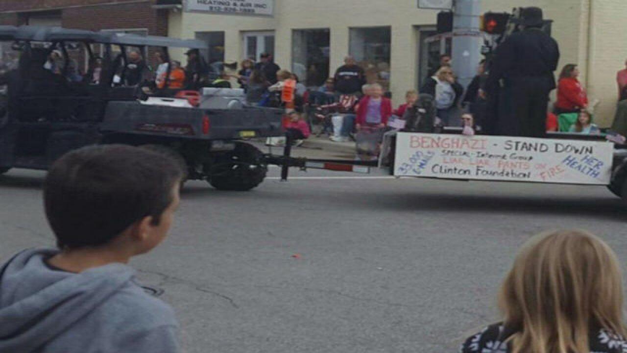 Ind. parade float depicts Trump killing Clinton