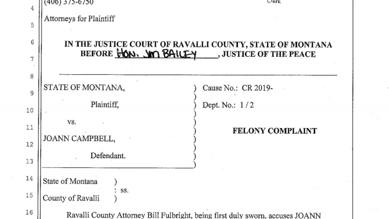 Joann Campbell court documents