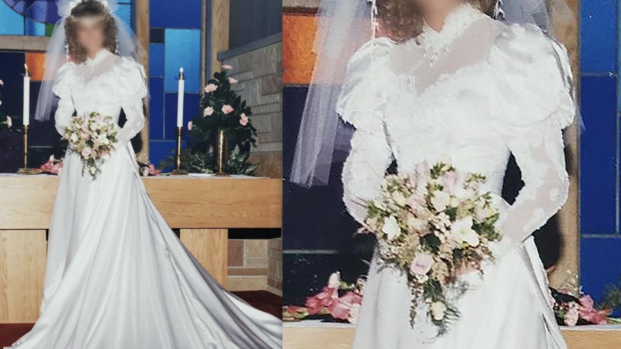 Missing Wedding Dress at Goodwill