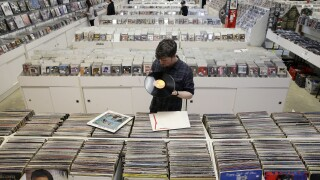 Vinyl records are on pace to outsell CDs for the first time since the '80s