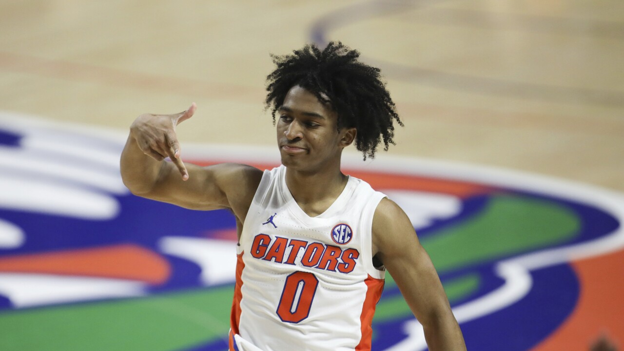 Florida Gators guard Ques Glover in January 2021