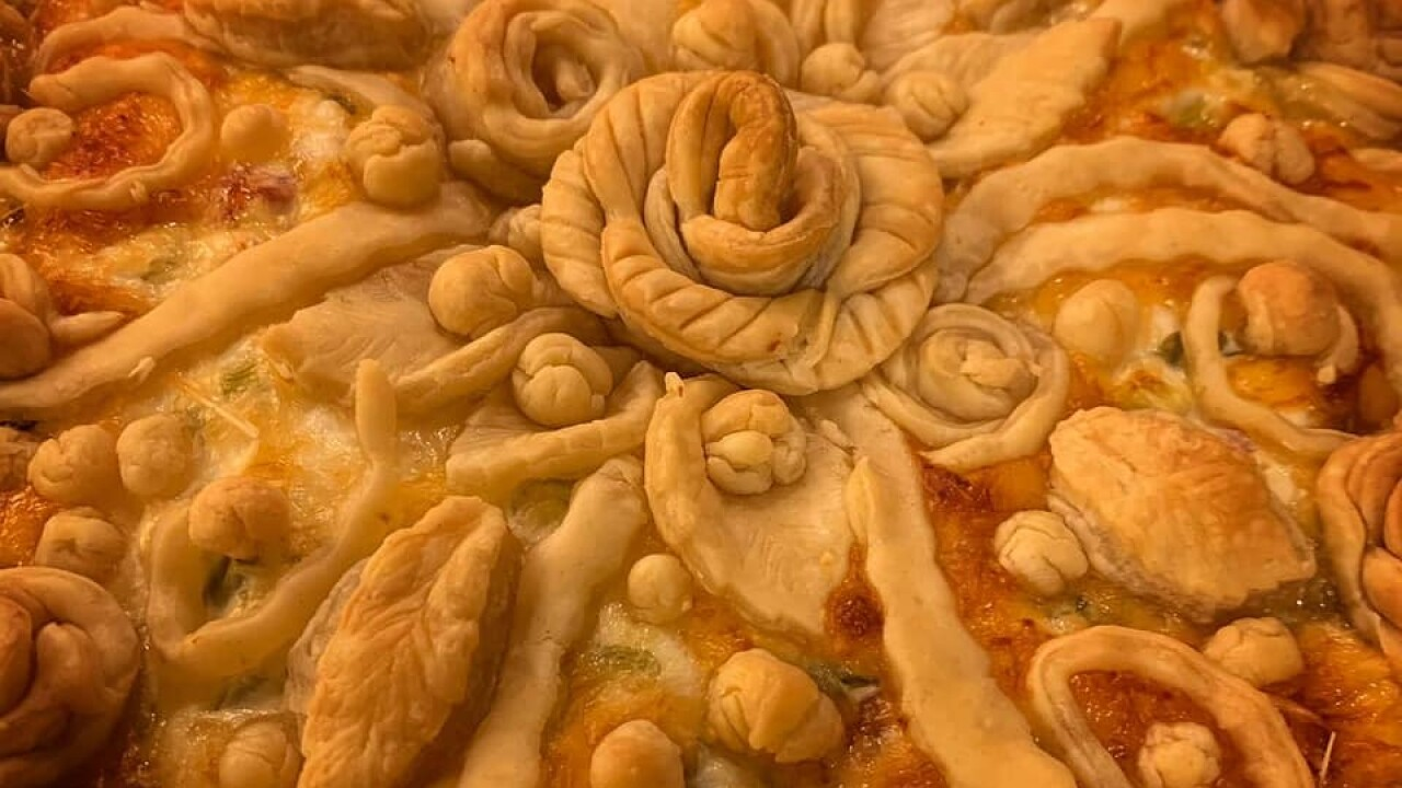 Woman's pandemic hobby of edible pie sculpturing gains national attention