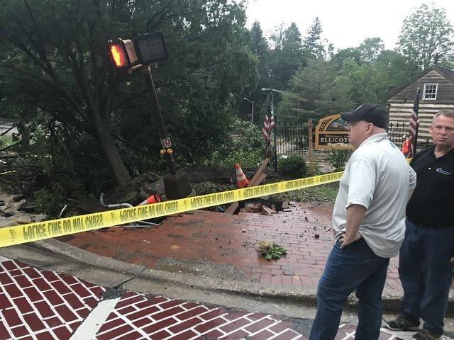 Flash flooding tears through Ellicott City