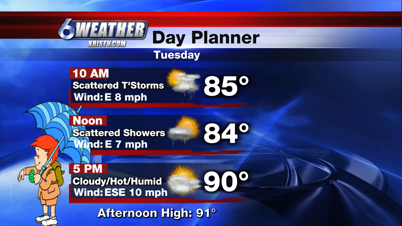 6WEATHER Tuesday Day Planner