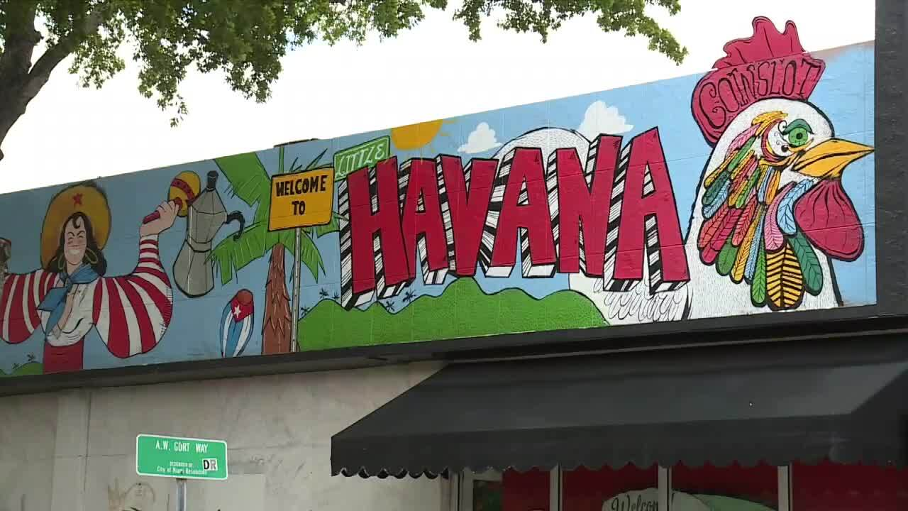 'Welcome to Little Havana' mural in Miami