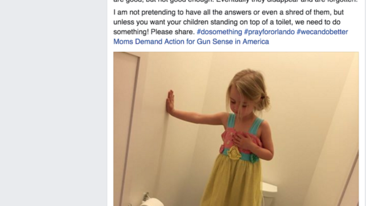 Facebook photo of 3-year-old girl practicing 'lockdown drill' goes viral