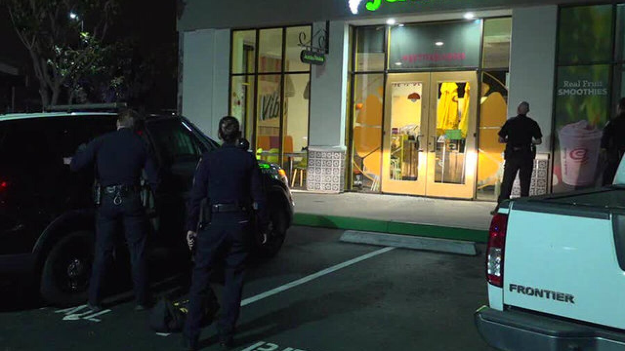 Man with sword arrested outside Jamba Juice