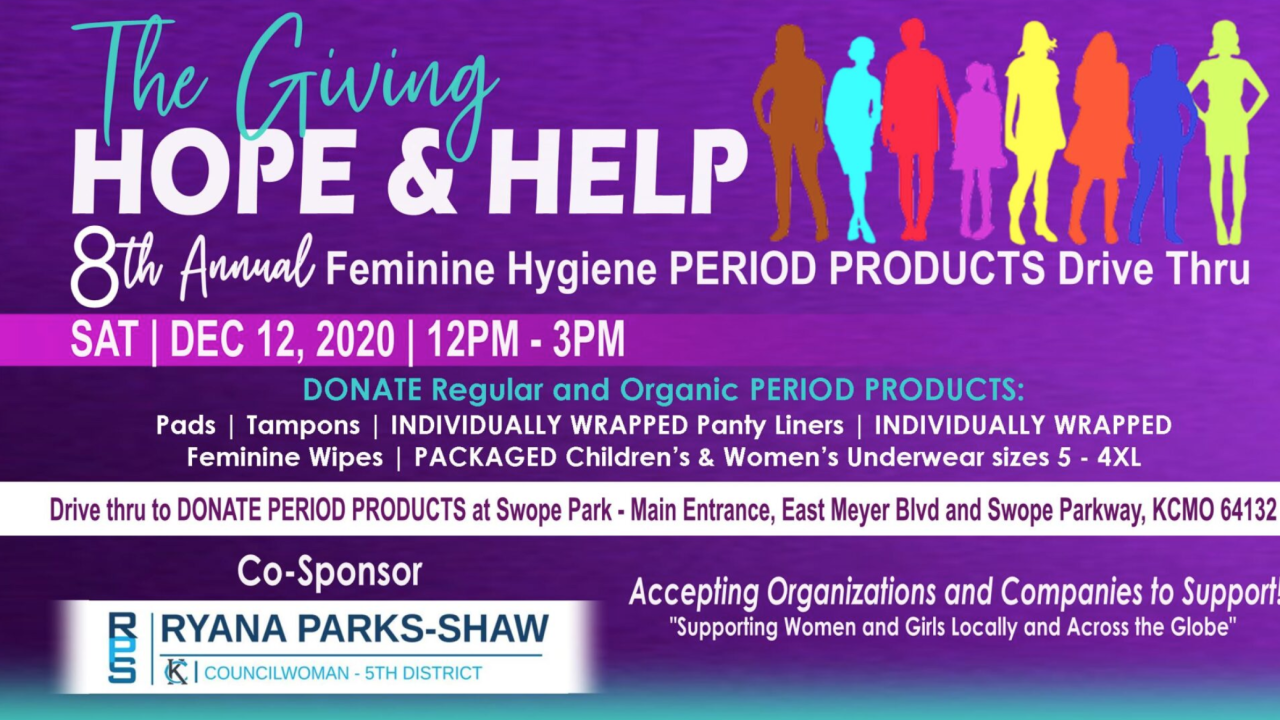 hope and help feminine hygiene drive