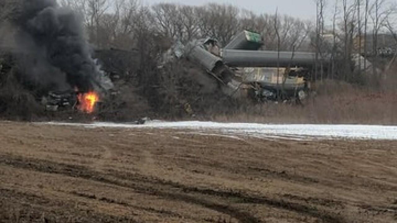 Reports: train derailment in Attica