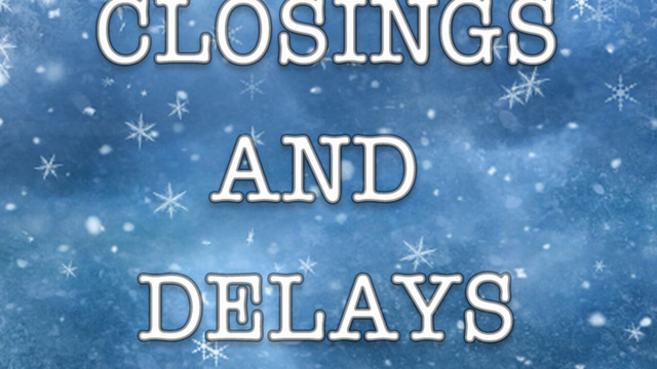 Blast of wintry mix closes & delays schools, businesses