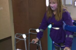 Step by step: Medina County teen paralyzed by virus determined to walk again