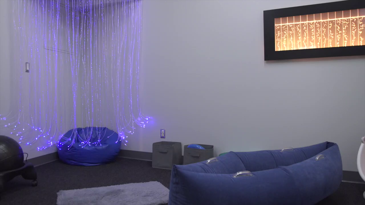 Sensory-inclusive rooms provide a quiet space for NFL fans