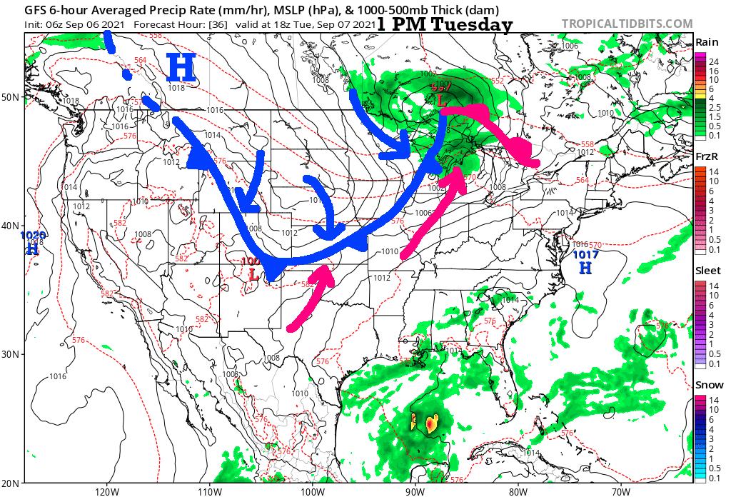 1 PM Forecast Tuesday