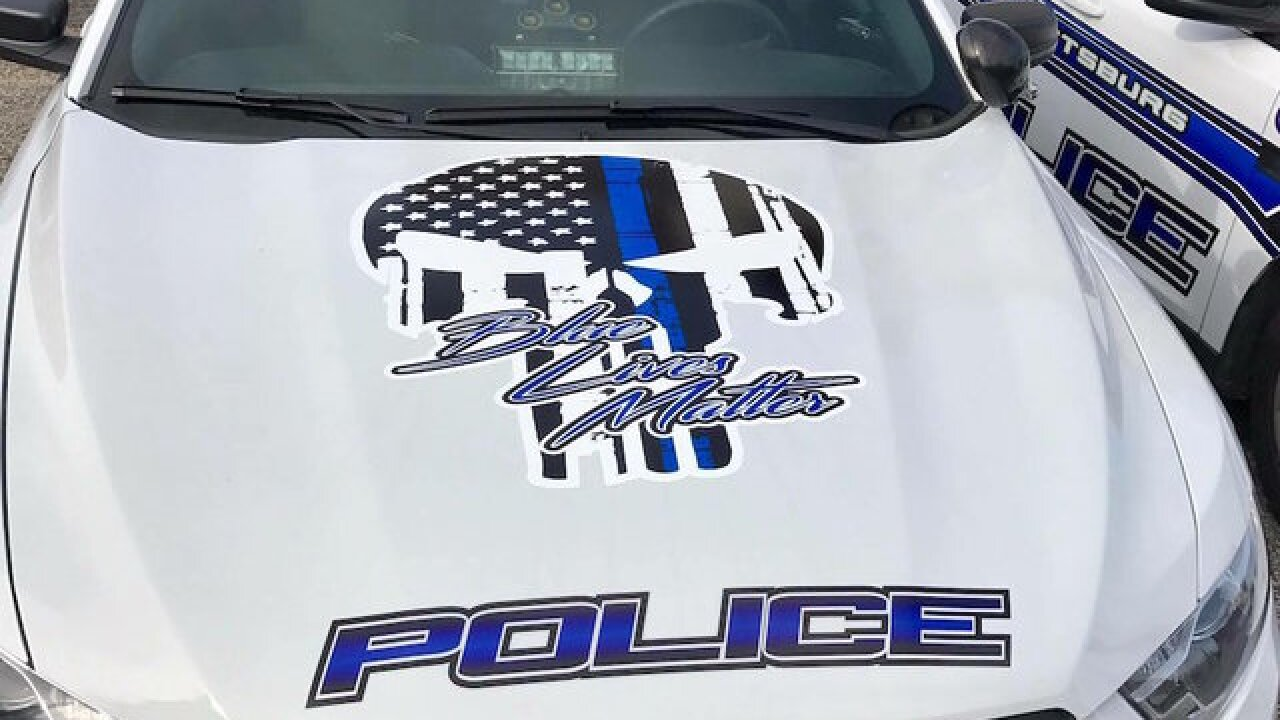 Kentucky police department removes 'Blue Lives Matter' decals from cruisers