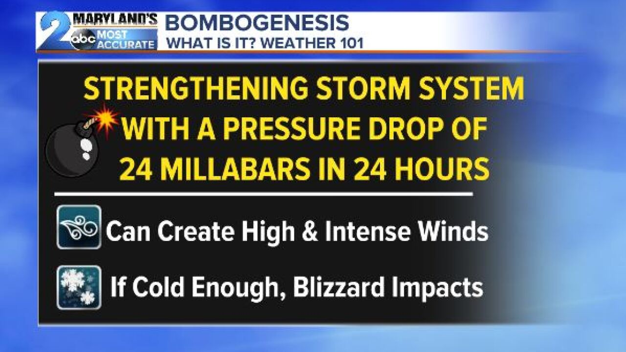 "What is the ""Bomb Cyclone""?"