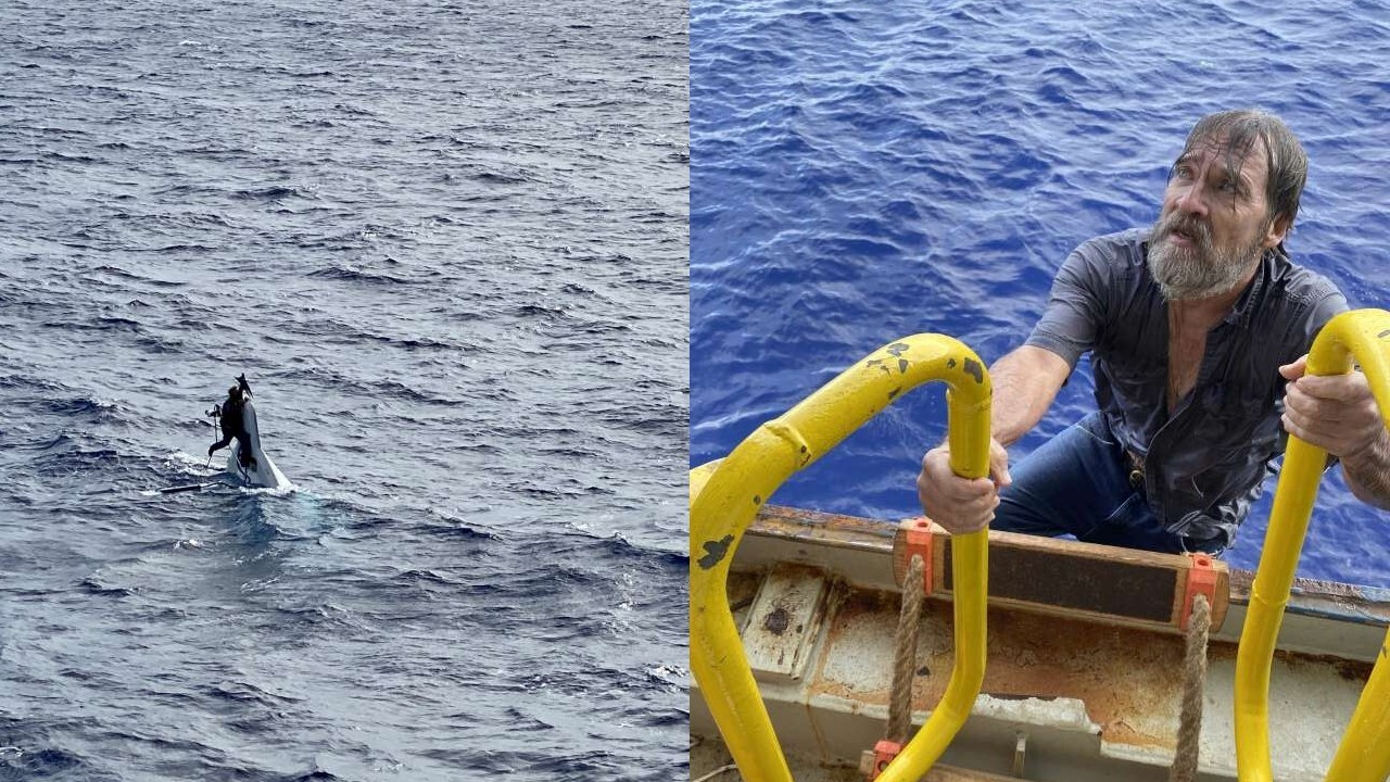 Man rescued after being found clinging to capsized boat 86 miles off Florida coast