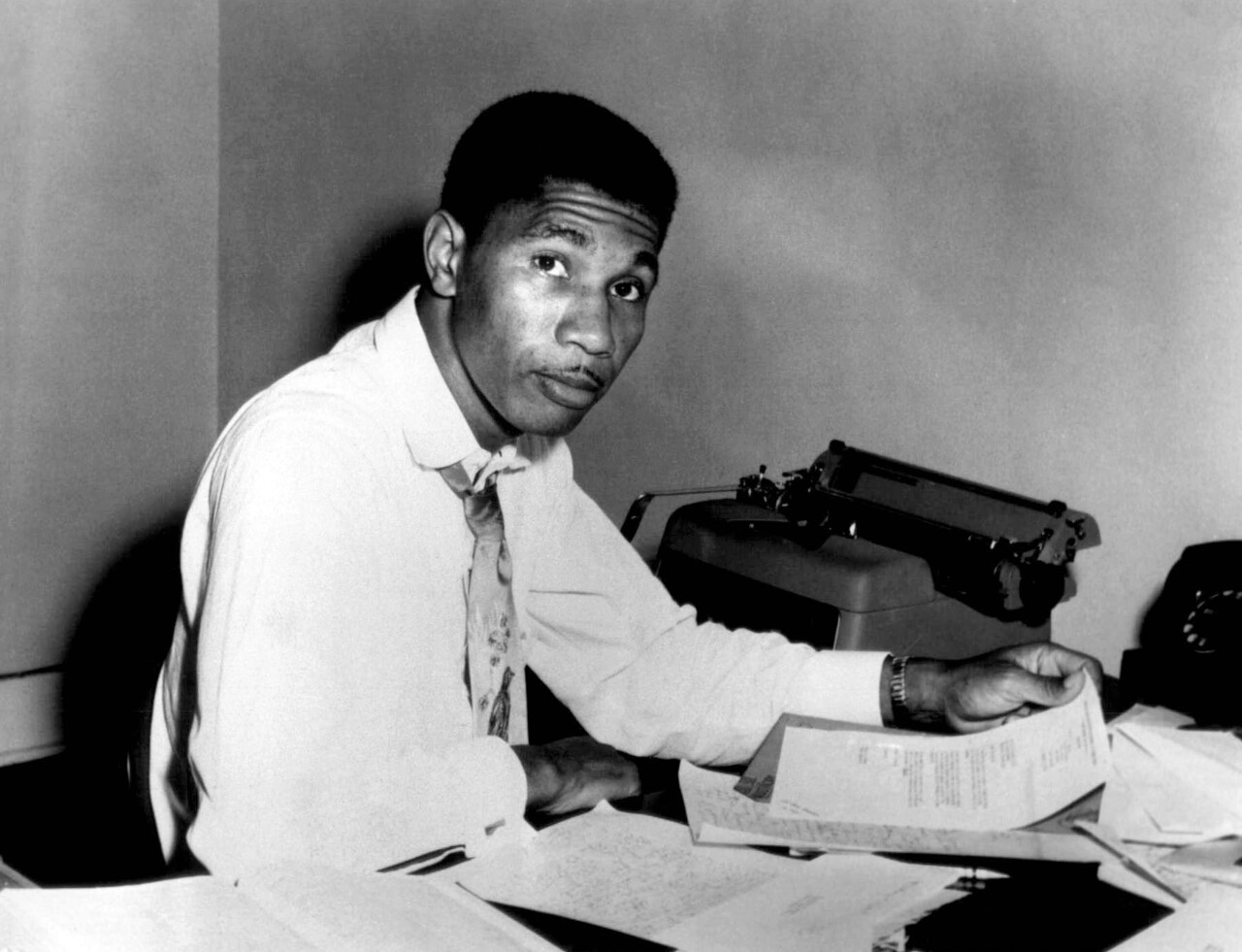 In this Aug. 9, 1955 file photo, Medgar Evers, state secretary for the NAACP poses for a photo in Jackson. (AP Photo/File)