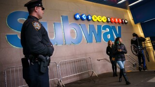 Police in the subway