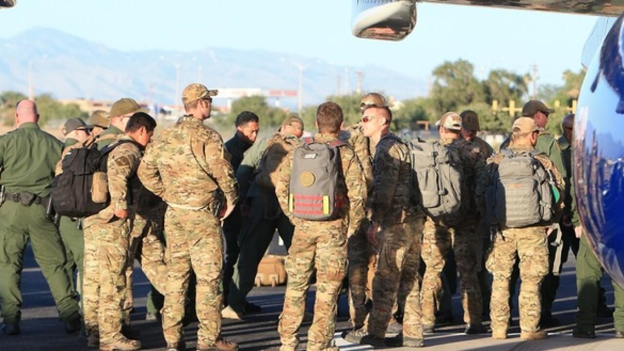 Border Patrol agents return from Puerto Rico