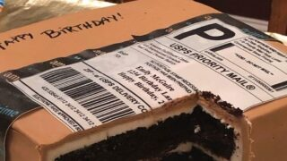 This Husband Gave His Wife A Birthday Cake Shaped Like An Amazon Package And It Looks So Real