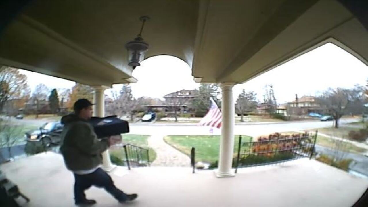 Package thief pretends to be pizza delivery man