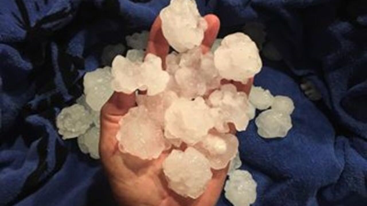 GALLERY: Hail throughout Omaha metro, June 29