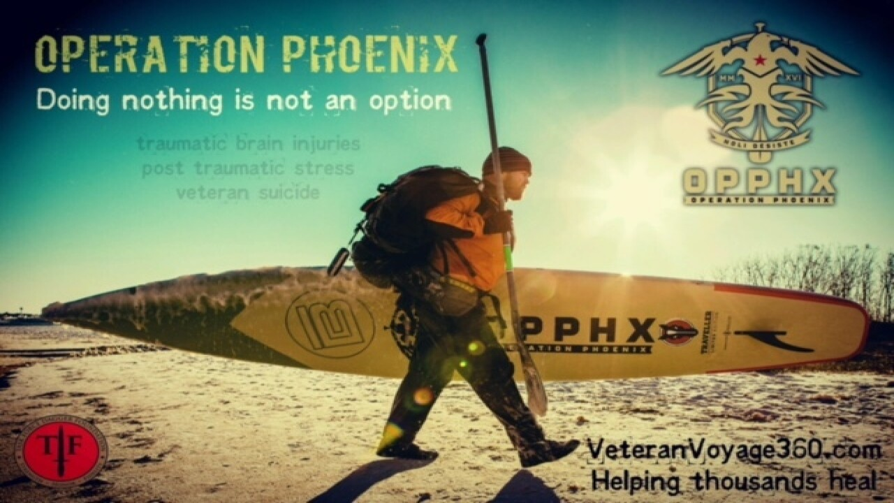 Florida vet paddle boards to NYC for awareness