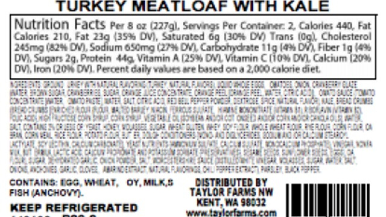 Food company recalls 'Homestyle Meatloaf'