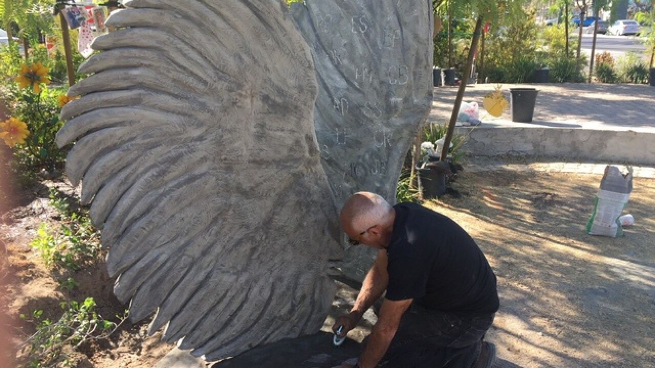 Sculpture honors 58 killed in last year's Las Vegas mass shooting
