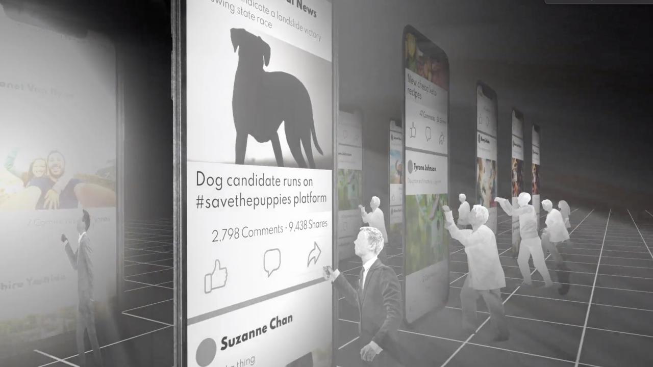 Animation: How misinformation spreads on social media
