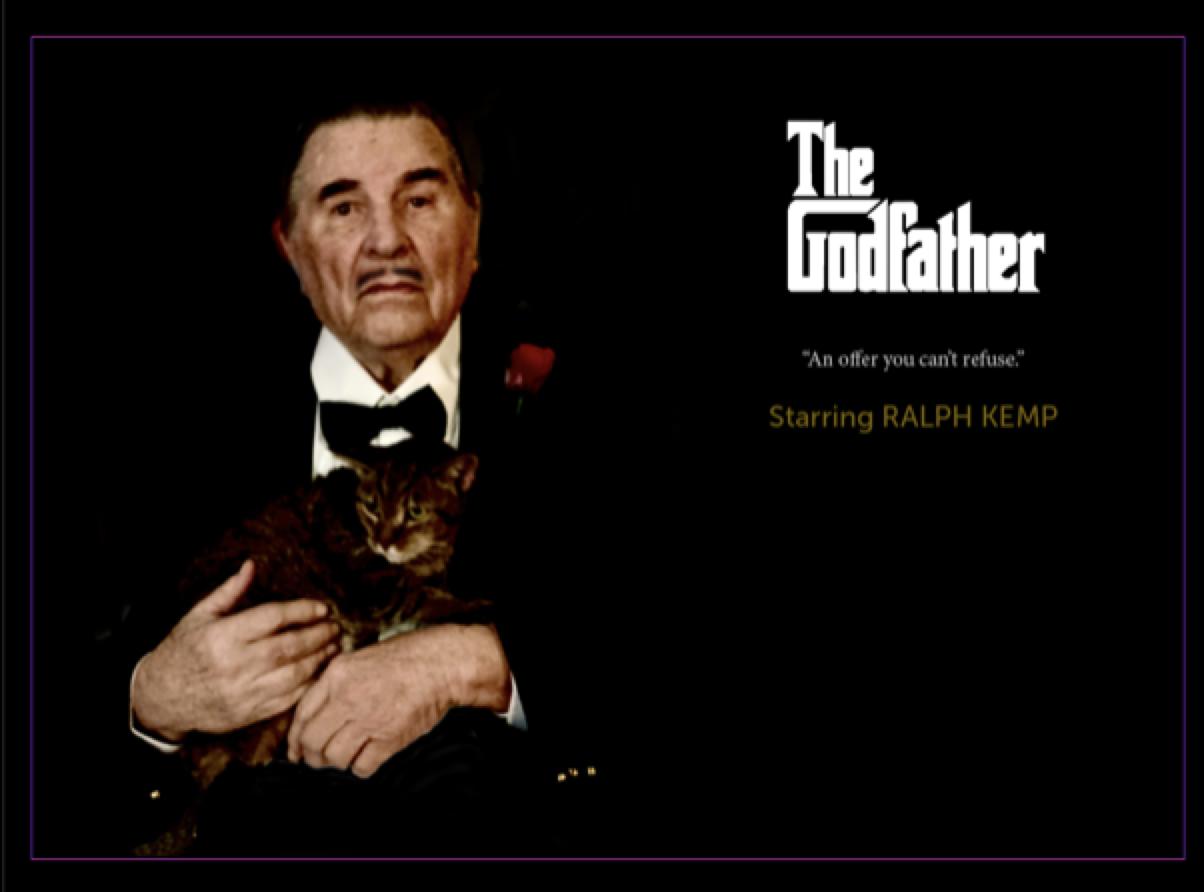 Ralph Kemp as Marlon Brando in The Godfather