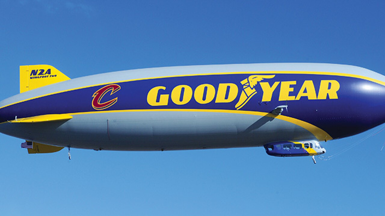 Record-setting female pilot to christen Goodyear's newest airship