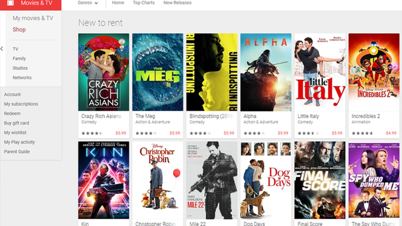 Google Play movie rentals are only $1 on Thanksgiving