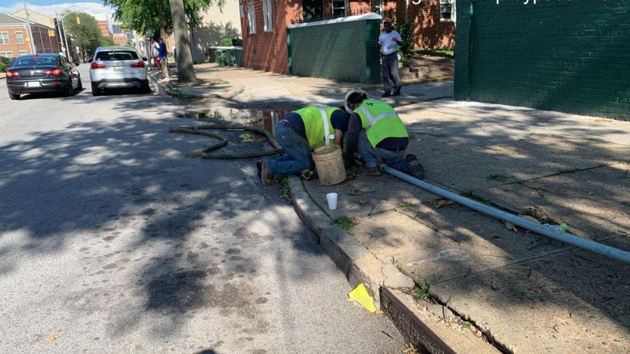 Contractors work to restore water to Poe Homes