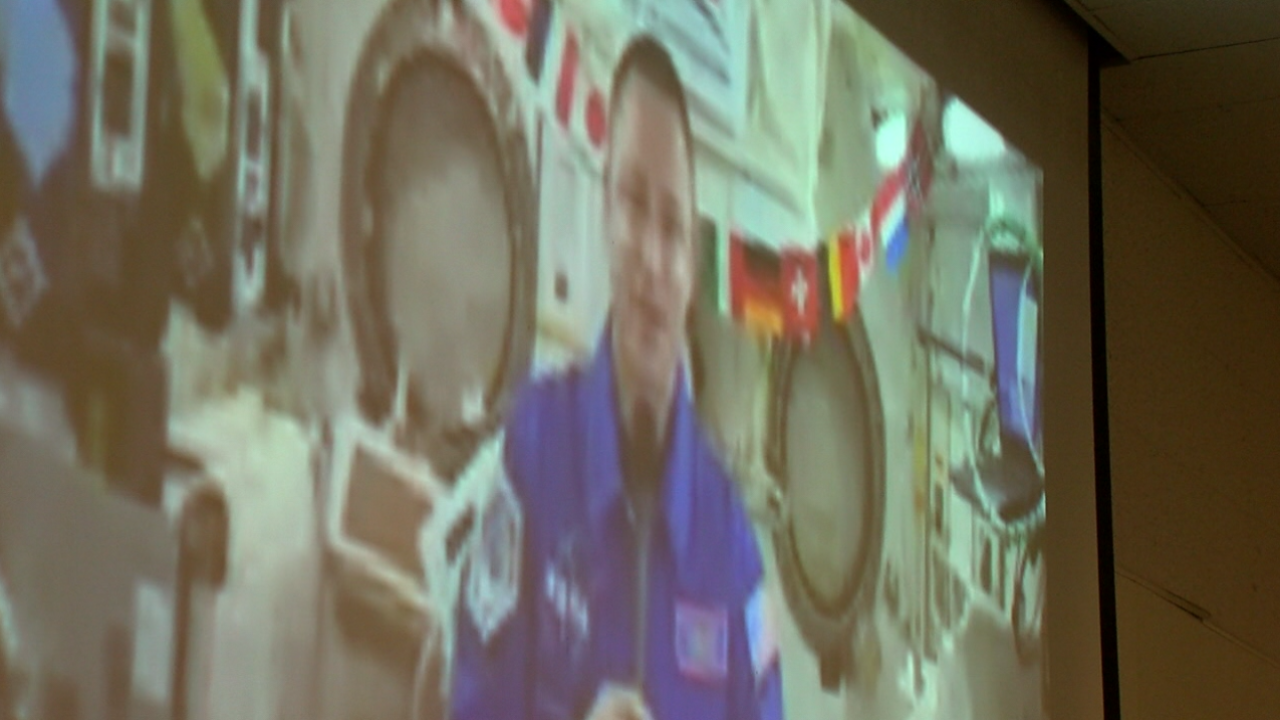 Colonel Andrew Morgan Aboard the International Space Station