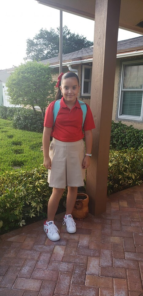 Here goes Keishlyan Richardson ready for 4th grade!!! She was excited and nervous at the same time. 🎉🥰