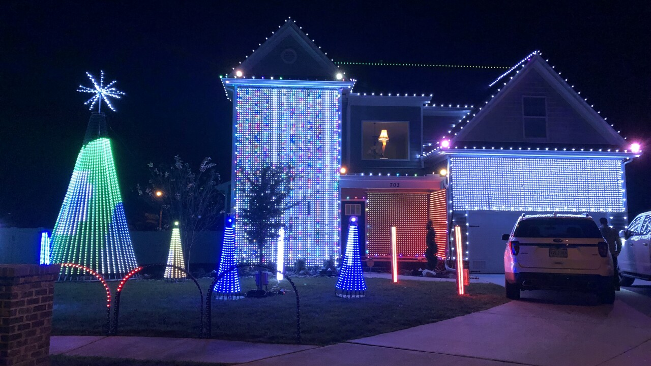 Chesapeake family uses massive Christmas display to support local foundation