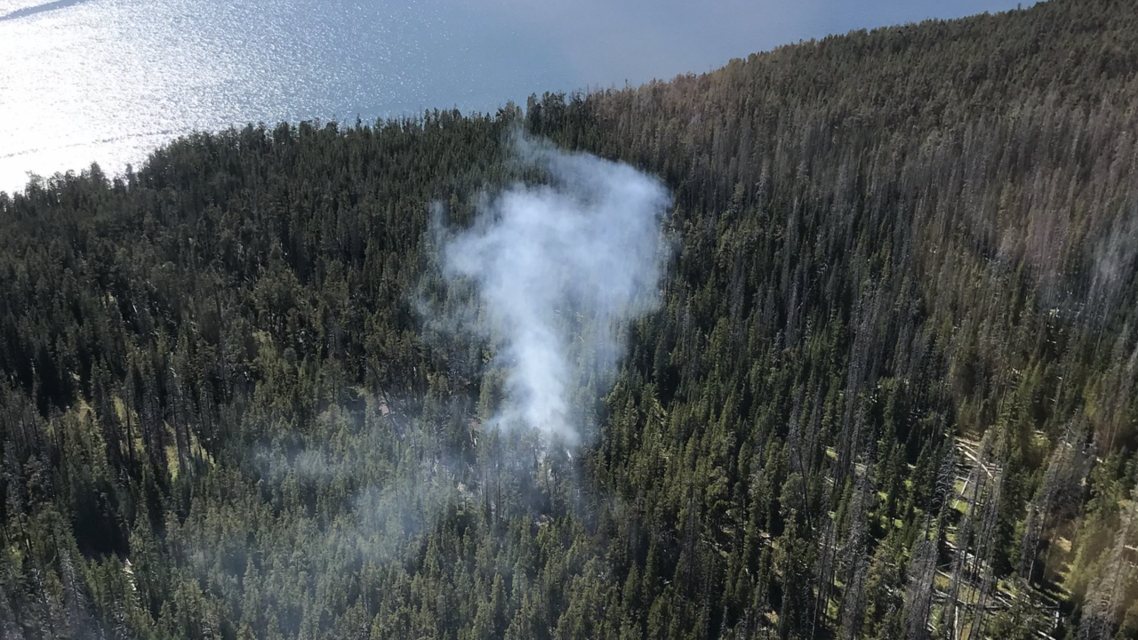 Lightning-caused fire being monitored in Yellowstone National Park